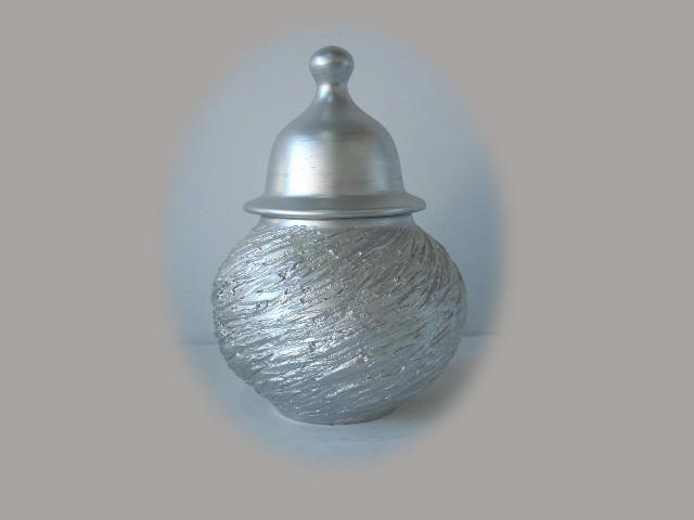 Bomboneras de cer mica decorativa en color plata - Colores de ceramica ...