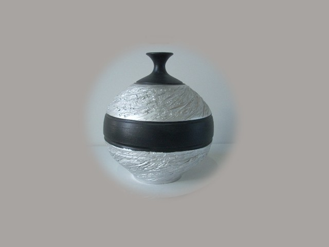 Floreros de cer mica en color plata - Colores de ceramica ...