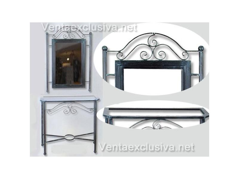Mueble recibidor de forja recibidores vintage hierro forjado for Muebles forja