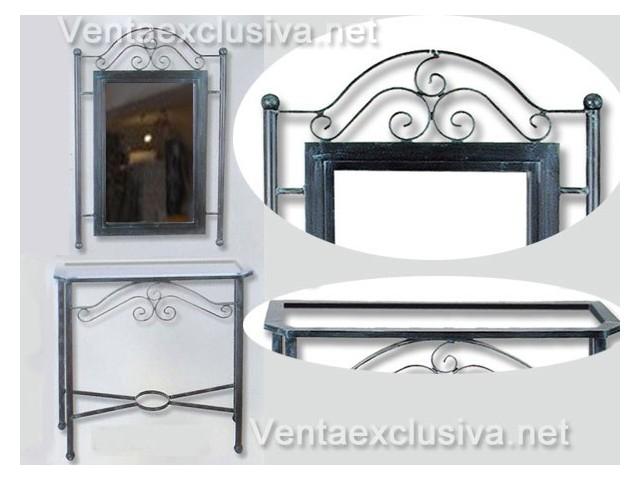 Mueble recibidor de forja recibidores vintage hierro forjado - Muebles de bano de forja ...