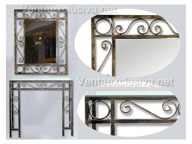 Entradas para recibidores baratas mueble recibidor de forja for Muebles forja