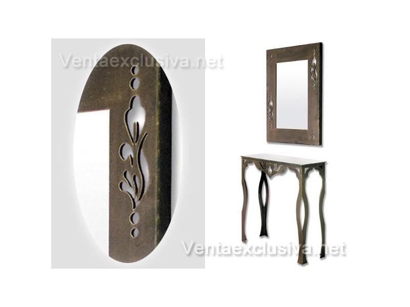 Mueble recibidor forja consolas de hierro forjado for Muebles forja