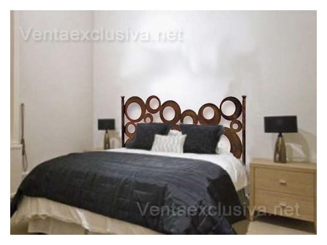 Cabecero de forja retro para camas de 90 105 135 150 - Cabeceros de cama 105 ...