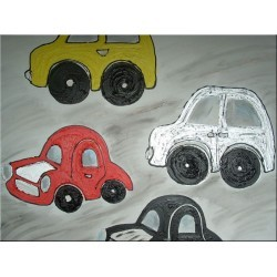 Cuadro infantil coches