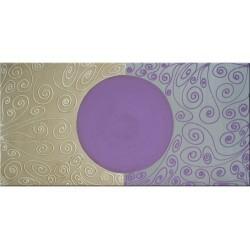 Cuadro lila y plata