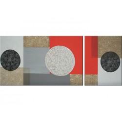 Composición en rojo y gris