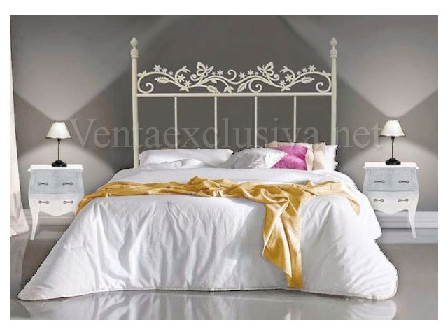Cabeceros de camas de forja decoraci n con forja blanca - Cabecero forja ikea ...