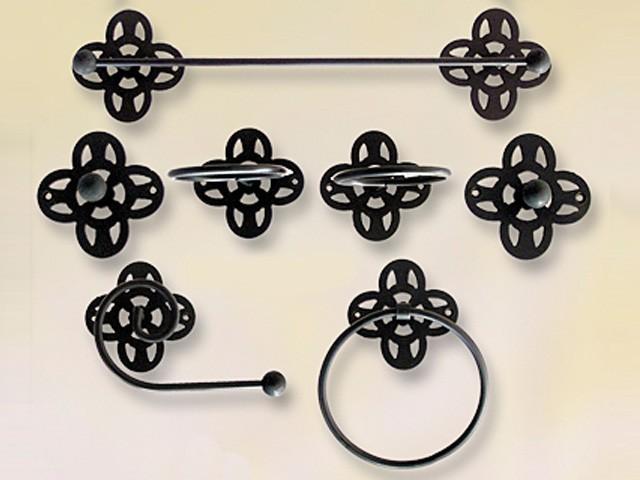 Accesorios y muebles rusticos de forja para ba os for Accesorios de bano rusticos
