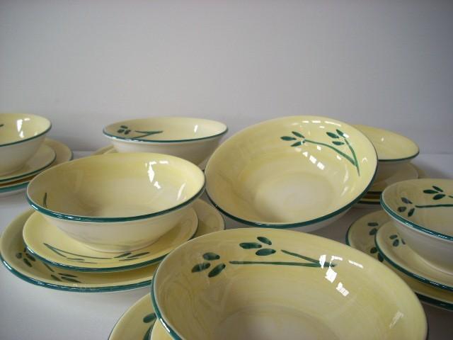 Vajilla 19 piezas hojas verdes for Outlet de vajillas