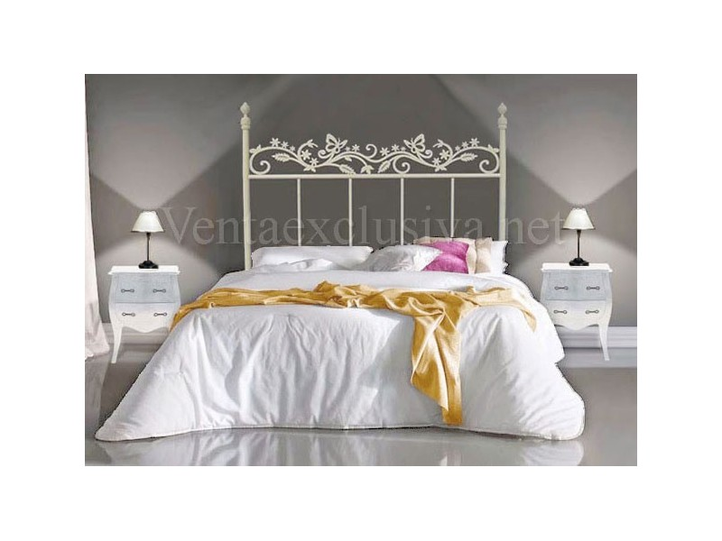 Camas de forja color blanco ikea cama barata blanca for Mesillas de forja ikea
