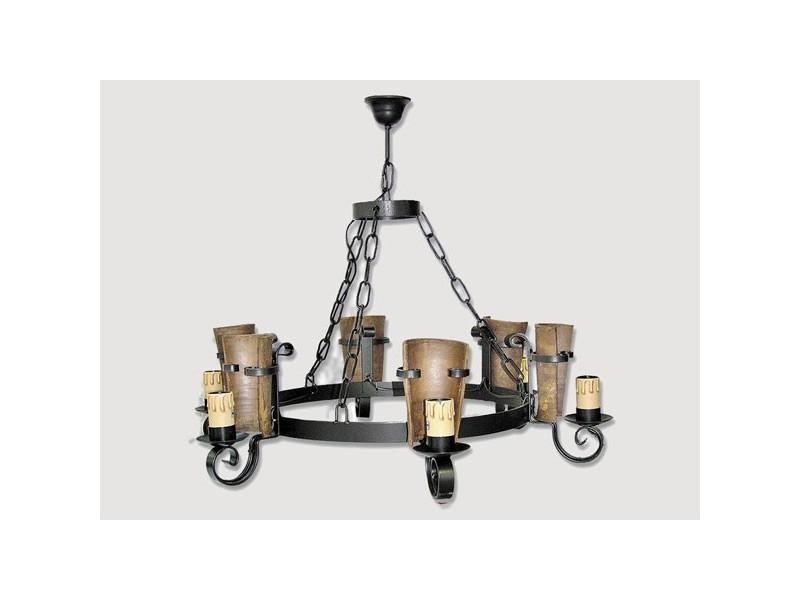 Lámpara Rustica de Forja-0558-9
