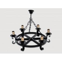 Lámpara Rustica de Forja-05522