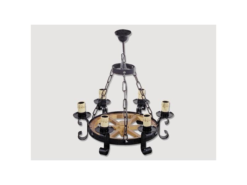 Lámpara Rustica de Forja-0518-22-23