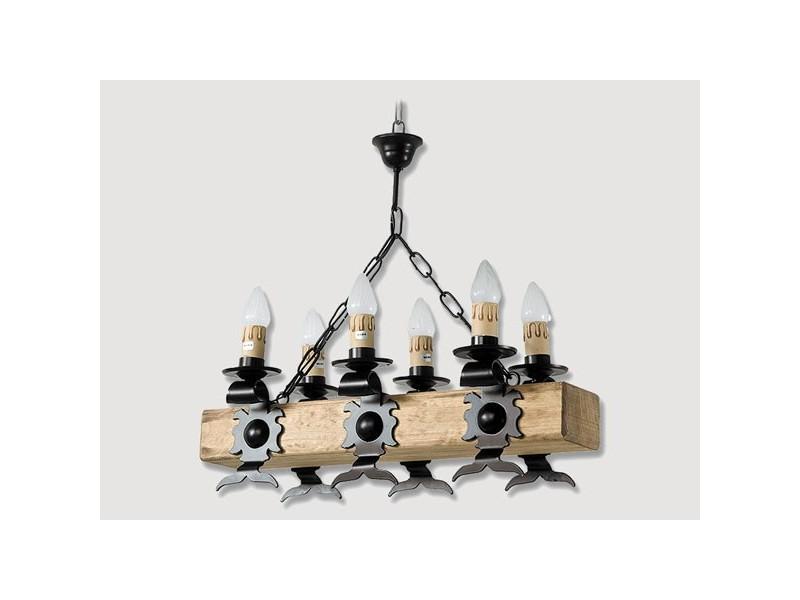 Lámpara Rustica de Forja-0565-6
