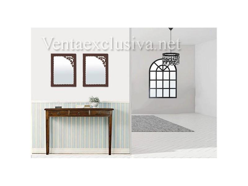 Espejos baratos de forja para recibidor muebles de forja for Espejos grandes baratos