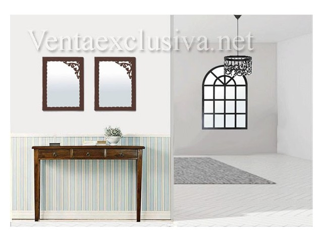 espejos baratos de forja para recibidor muebles de forja