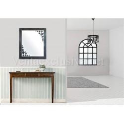 Espejo de forja moderno espejo decoraci n moderno metalico for Espejos recibidor baratos