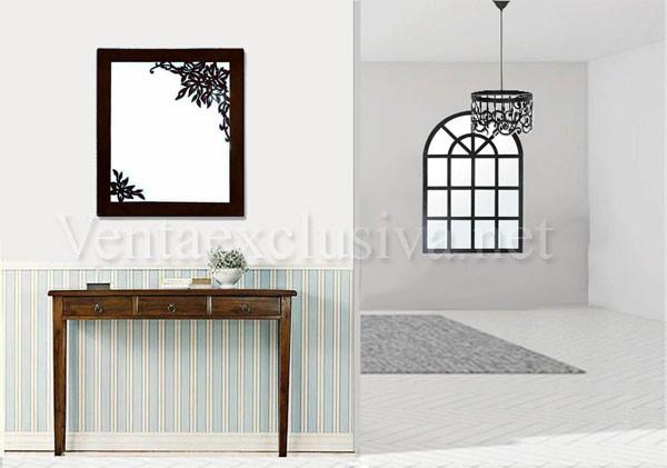 Espejos recibidor originales espejo marco blanco bari for Espejos originales recibidor