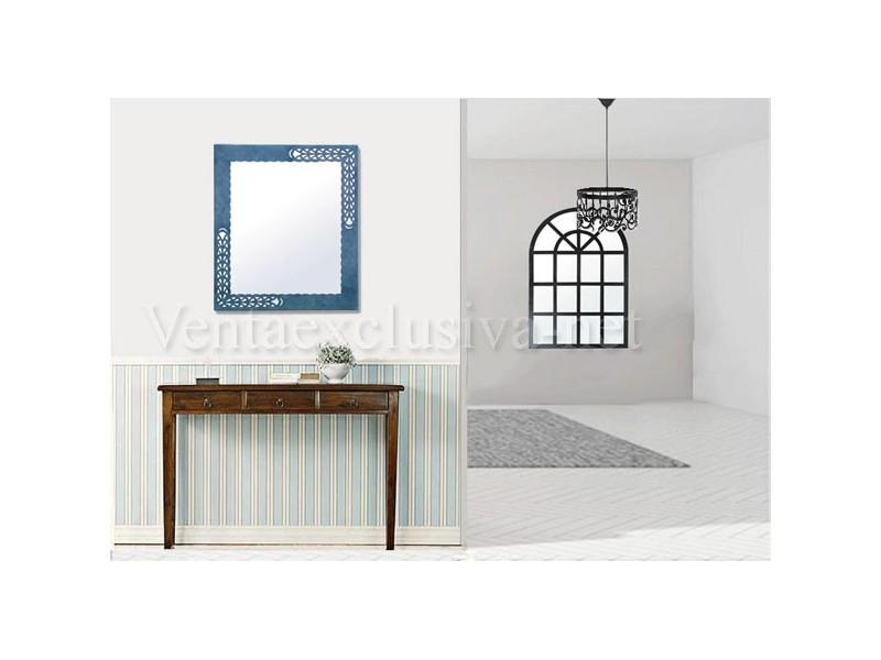 Espejos de forja originales color azul espejos azules for Ikea espejos grandes