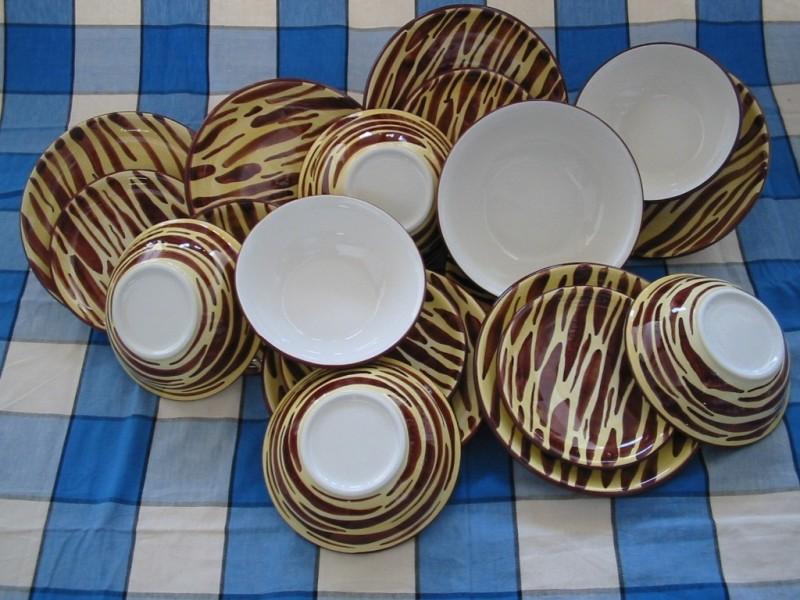 Vajilla 19 piezas decoración tigre