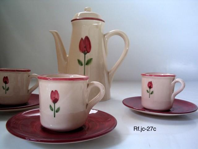 Vajillas de cer mica vajilla tulip n carm n for Vajilla ceramica