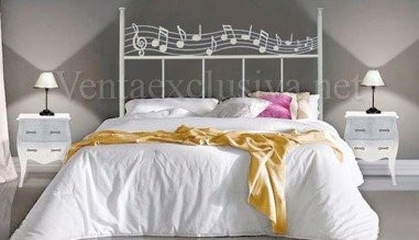 Cabecero notas musicales